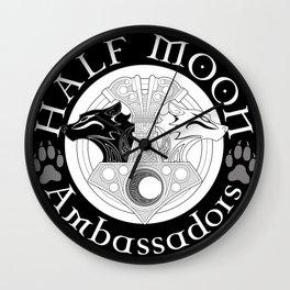 Half Moon mjolnir logo Wall Clock