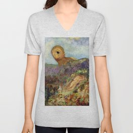 "Odilon Redon ""The Cyclops"" Unisex V-Neck"