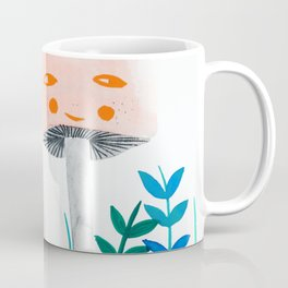 pink mushroom with floral elements Coffee Mug