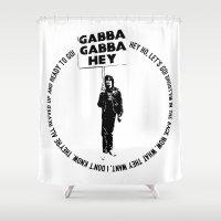 punk rock Shower Curtains featuring Blitzkrieg Bop • Punk Rock Lyrics by Designerpunk