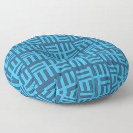 Afro Modern Tribal Symbols Floor Pillow