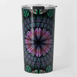 Magical dream flower, fractal abstract Travel Mug