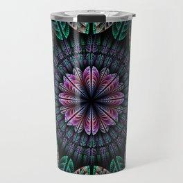 Magical dream flower, fractal abstract Travel Mug