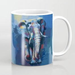 Elephant Dream - Colorful wild animal digital painting Coffee Mug