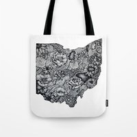 ohio Tote Bags featuring Ohio by Simplyfrank