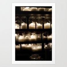 Behind The Light Art Print