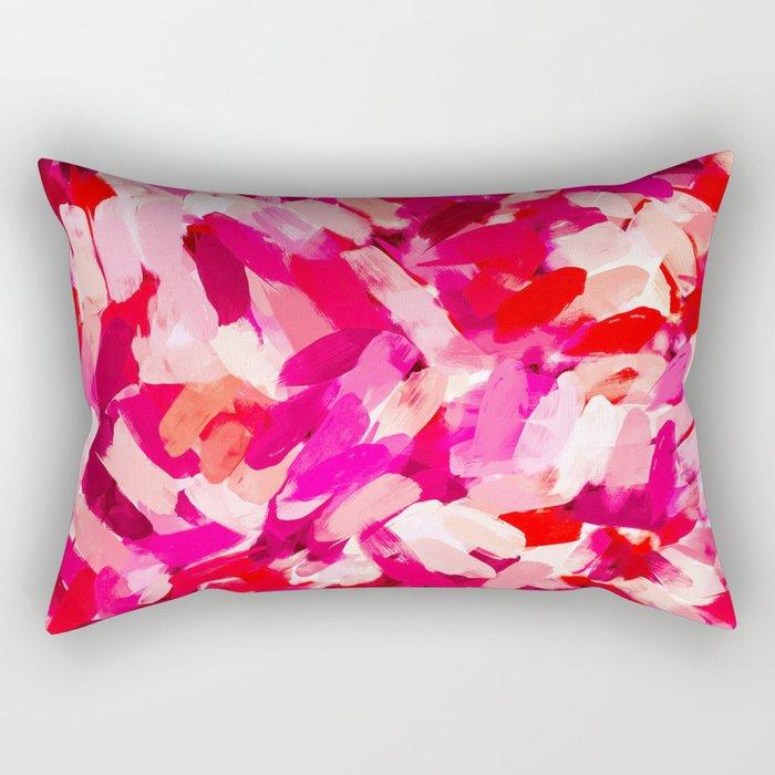 Ada Abstract Brushstrokes Rectangular Pillow