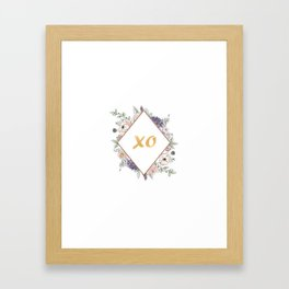 Lettering and Watercolor Flowers #3 Framed Art Print