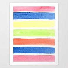 Summer stripes Art Print