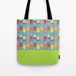 Fruit popsicles - blue version Tote Bag