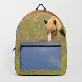 Watercolor Horse 24, Icelandic Pony, Höfn, Iceland, Which One do I Eat? Backpack