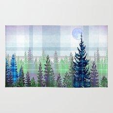 Plaid Forest Rug