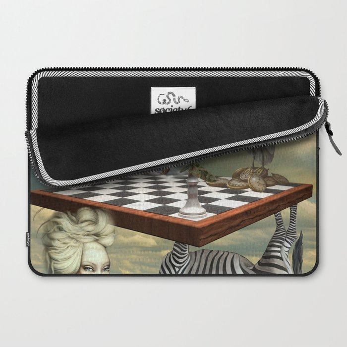 Zebra Upside Down Laptop Sleeve