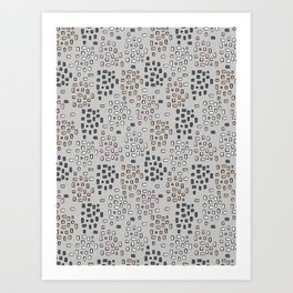 Rectangle Square Doodle Vector Pattern Seamless Art Print