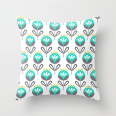Pop Flora Throw Pillow