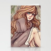 cyarin Stationery Cards featuring Tree Girl by Cyarin