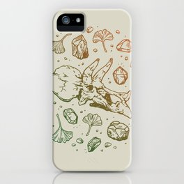 Triceratops Rocks! | Leaf Green & Pumpkin Spice Ombré iPhone Case