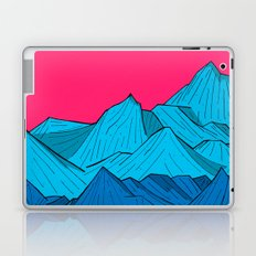 Mountains under the pink sky Laptop & iPad Skin
