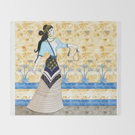 Minoan Beauty Throw Blanket