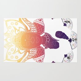 Psychedelic Lotus Rug