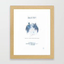 DUBSTEP Framed Art Print