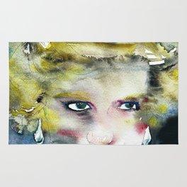 DIANA ,PRINCESS OF WALES - watercolor portrait .2 Rug