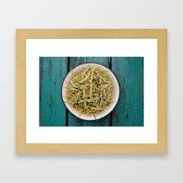 Tilia leaves Framed Art Print