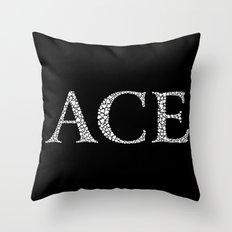 Ace of Spades - Variant Throw Pillow