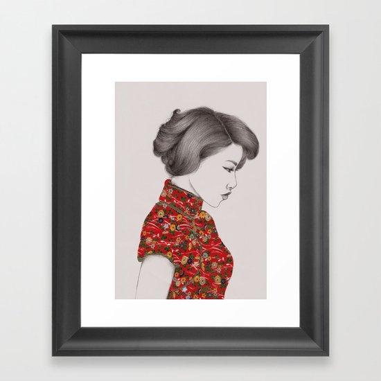 Paper Doll Framed Art Print