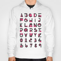 alphabet Hoodies featuring Alphabet by Isthar Marcon