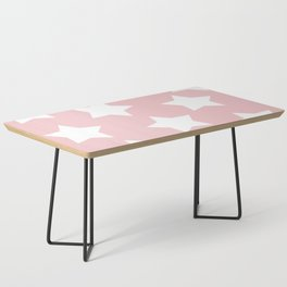 Happy Pink Star Print Coffee Table