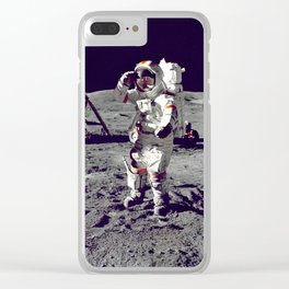 Nasa Archive USA Moon Clear iPhone Case