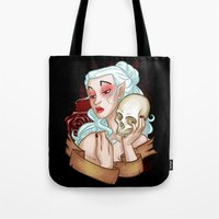 carmilla Tote Bags featuring Vampiress by Kieran Thompson