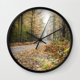 Along The Road - Fall Wall Clock