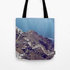 Santorini Stairs Tote Bag