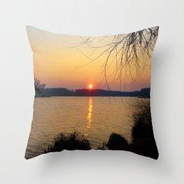 Sunset 1 Photography Throw Pillow