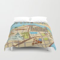 cuba Duvet Covers featuring Cuba by Sahily Tallet Yip