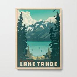 Vintage travel poster-Lake Tahoe. Metal Print