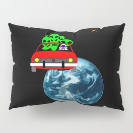 Ride to Mars selfie Pillow Sham