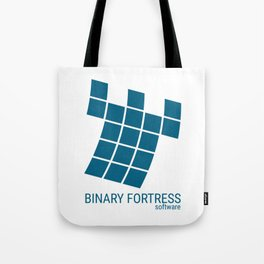 Binary Fortress Software (blue logo) Tote Bag