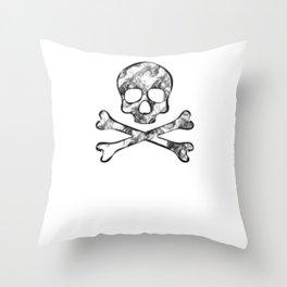Head Skull smoke effect Throw Pillow