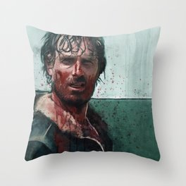 Don't Mess WIth Rick Grimes - The Walking Dead Throw Pillow