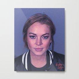 Lindsay 2013 Mugshot **Signatured** Metal Print