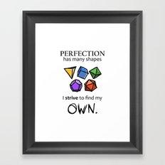 Perfection Framed Art Print