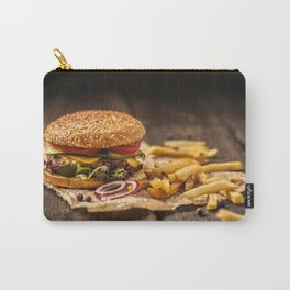 Tasty burger with french fries Carry-All Pouch