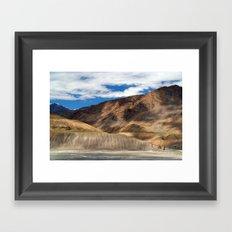 Scenery in Spiti Valley Framed Art Print