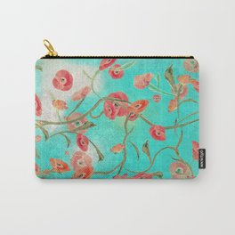 Poppies and Vines Carry-All Pouch