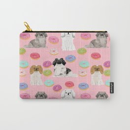 Pekingese dog breed dog pattern pet portraits donut food dog breeds pet friendly Carry-All Pouch