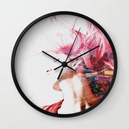 Red hair city Wall Clock
