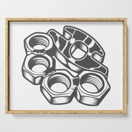 """Fashion Modern Design Print """"Brass Knuckles""""! Rap, Hip Hop, Rock style and more Serving Tray"""